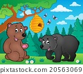 bears, nature, vector 20563069
