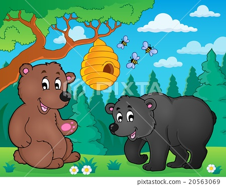 Bears in nature theme image 4 20563069