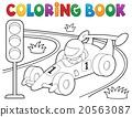 coloring, book, racing 20563087