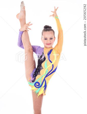 Flexible gymnast girls