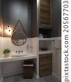 Bathroom modern loft style, 3D render 20567703