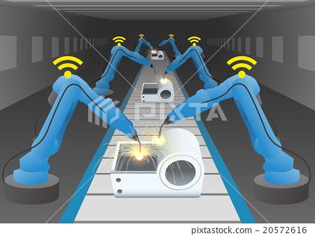机械厂和焊接机器人手臂 20572616