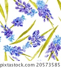 Watercolor Floral Texture with Provence Flowers 20573585