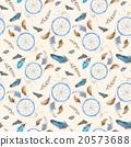 Vintage Pastel Boho Pattern with Dreamcatchers 20573688