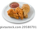 Delocious Deep Fried Chicken Wings with Sauce 20580701