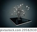 Social media icons set in tree shape  20582630