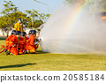 Firefighter fighting for fire attack training 20585184