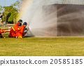 Firefighter fighting for fire attack training 20585185