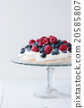 fresh, dessert, berries 20585807