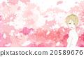 여성, 여자, 벚꽃 20589676