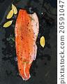 salmon, raw, lemon 20591047