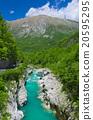 Wild river in the Alps (Soca / Isonzo)  20595295