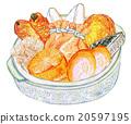 關東煮 陶壺 拼盤 20597195