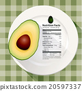 Vector of Nutrition facts in avocado 20597337