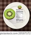 Vector of nutrition facts in Kiwi 20597372