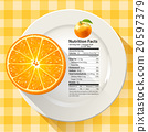 Vector of Nutrition Facts in Orange Fruit 20597379