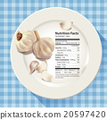 Vector of Nutrition facts in garlic 20597420