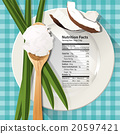 Vector of Nutrition facts in coconut oil  20597421