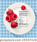Vector of Nutrition facts in raspberries 20597428