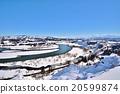 信濃川 越後三山 雪景 20599874