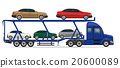 truck semi trailer for transportation of car  20600089