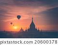 buddhist, myanmar, sunrise 20600378