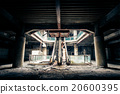 Dramatic view of damaged and abandoned building 20600395