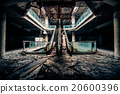 Dramatic view of damaged and abandoned building 20600396