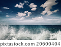 Stormy ocean landscape with rainy clouds 20600404