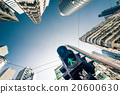 Hong Kong futuristic city with traffic semaphore 20600630