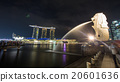 Merlion and Marina Bays Sands in Singapore. 20601636