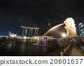 Merlion and Marina Bays Sands in Singapore. 20601637
