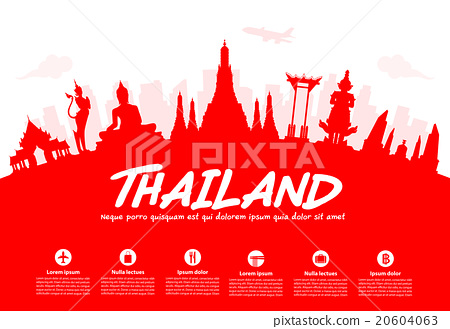 Thailand Travel Landmarks. 20604063