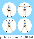 Woman Fitness Vector 20604348
