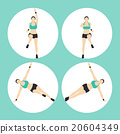 Woman Fitness Vector 20604349