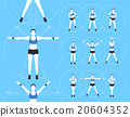 Woman Fitness Vector 20604352