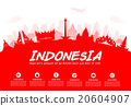 Indonesia Travel Landmarks. 20604907