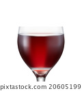 Crystal glass with red wine 20605199