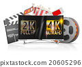 TV and film strip 20605296