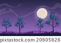 배경, 벡터, 달빛 20605626