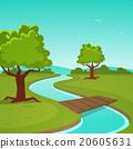 Cartoon Summer Landscape 20605631