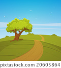vector, landscape, tree 20605864