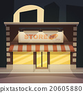 Cartoon Store Night 20605880