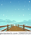 The wooden bridge at winter time 20605918