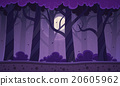 Night Forest Background 20605962