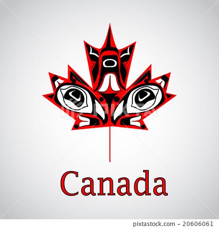 Canadian native maple leaf 20606061
