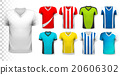Collection of various soccer jerseys.  20606302