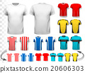 Collection of various soccer jerseys.  20606303