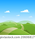 vector, landscape, road 20606817