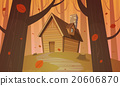 Cabin in woods - Autumn 20606870